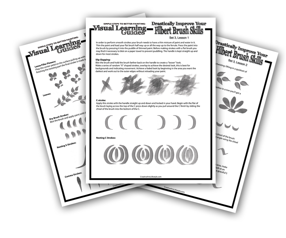 Visual Learning Guide: Filbert Brush Skills