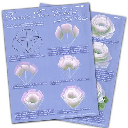Romantic Rose Worksheet with Beth Wagner