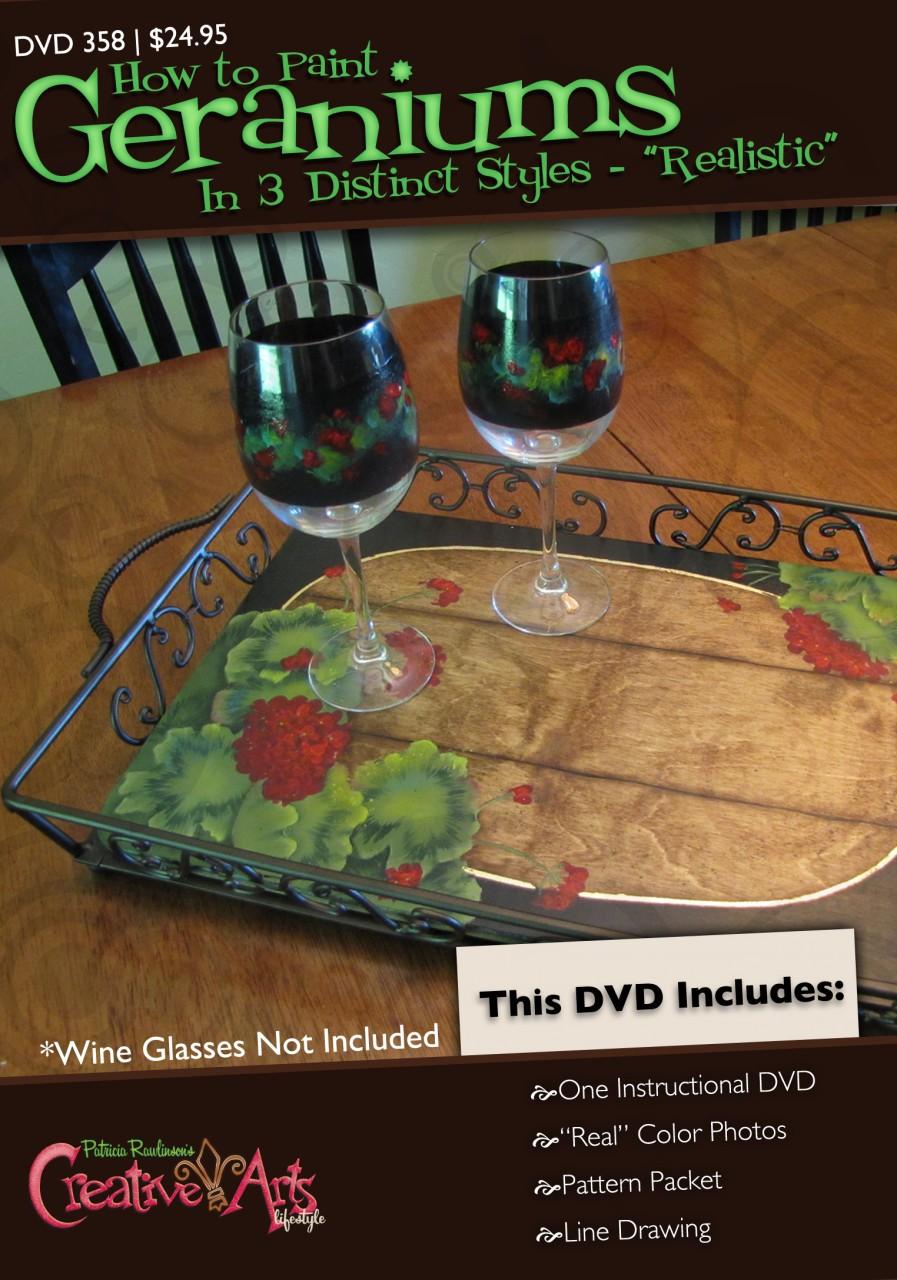 Geranium Garden Tray DVD and Pattern Packet - Patricia Rawlinson