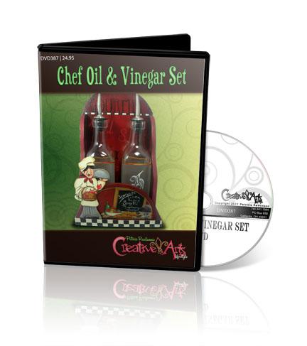 Chef Oil & Vinegar Set DVD & Pattern Packet - Patricia Rawlinson