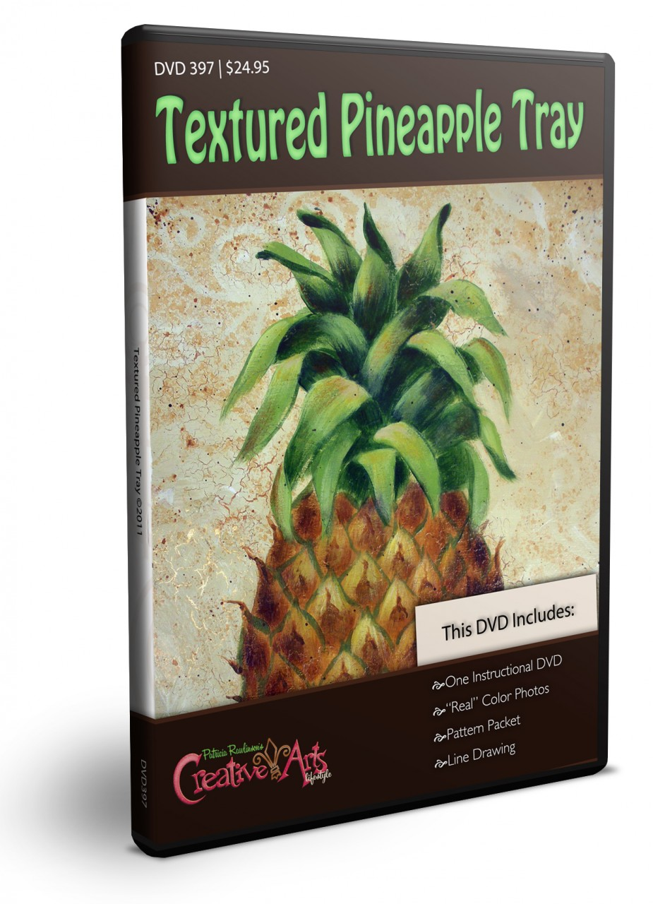 Textured Pineapple Tray DVD & Pattern Packet - Patricia Rawlinson