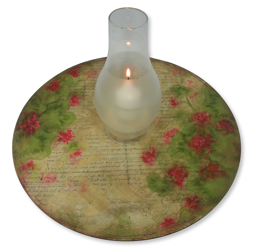 Rustic Geranium Lazy Susan DVD & Pattern Packet - Patricia Rawlinson
