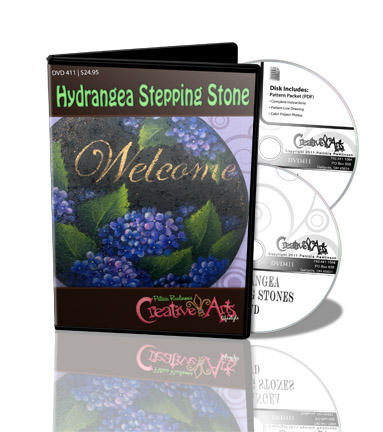 Hydrangea Stepping Stone DVD & Pattern Packet - Patricia Rawlinson