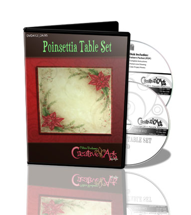 Poinsettia Table Set DVD & Pattern Packet - Patricia Rawlinson