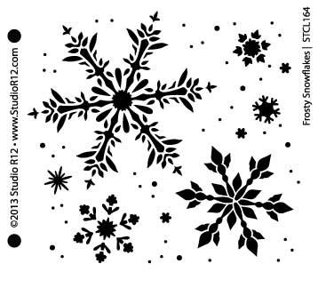 "Frosty Snowflakes Stencil - 6"" x 6"""