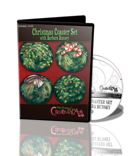 Christmas Coaster Set with Barbara Bunsey DVD & Pattern Packet - Patricia Rawlinson
