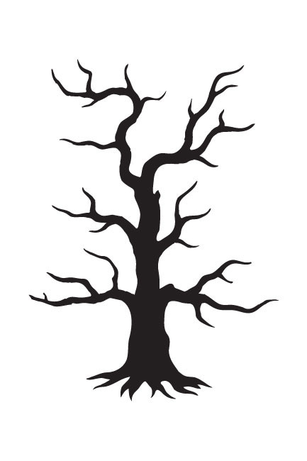 Spooky Hollow Tree Art Stencil 4 Quot X 6 Quot