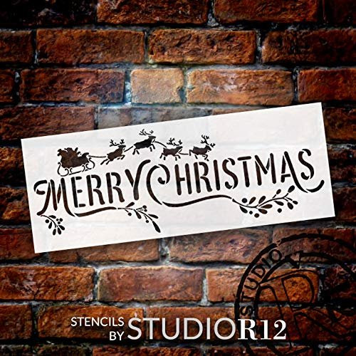 Merry Christmas Stencil By StudioR12