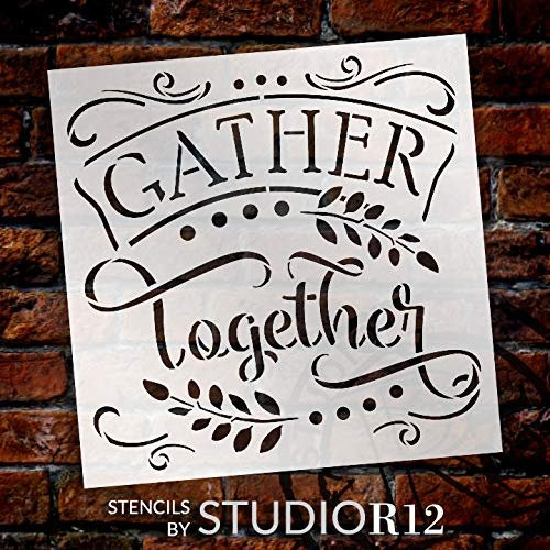 gather together stencil by studior12 diy farmhouse fall autumn home decor paint wood signs reusable template select size creative arts lifestyle gather together stencil by studior12 diy farmhouse fall autumn home decor paint wood signs reusable template select size