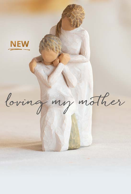 NEW Loving my Mother. Hand carved figurine of mother and daughter