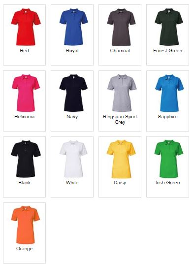 Womens Polo colours available