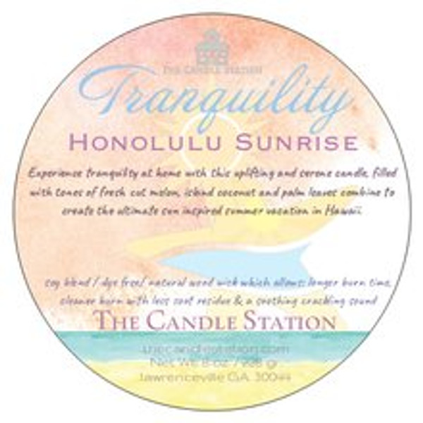 Experience tranquility at home with this uplifting and serene candle, filled with tones of fresh cut melon, island coconut and palm leaves combine to create the ultimate sun inspired summer vacation in Hawaii.