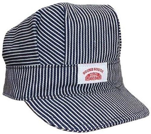 Train Conductor Striped Engineer Hat - Adult & Kids