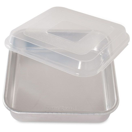 9 Inch Square Cake Pan with Lid