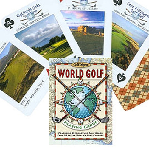 World Golf Playing Cards