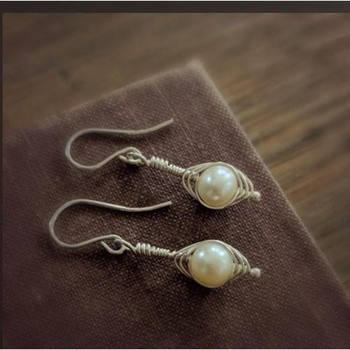 Silver Pea Pod Earrings