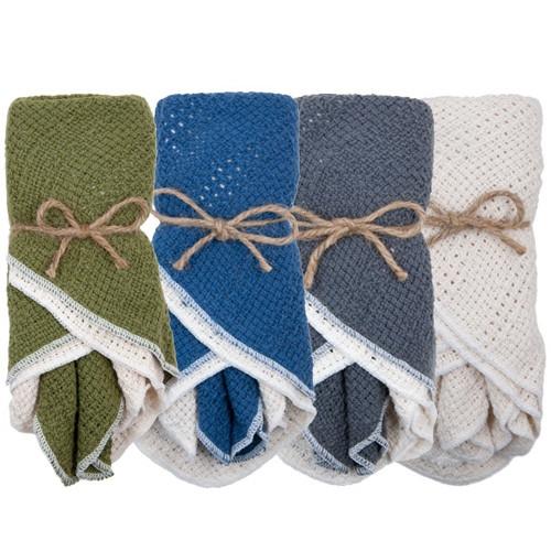 Cotton Dish Cloths - 4 pack