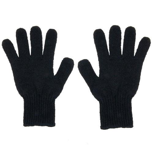 Men's Black Wool Gloves