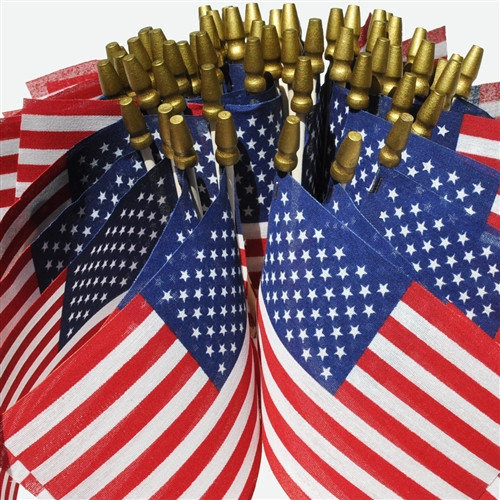 American Stick Flags - 60 Pack