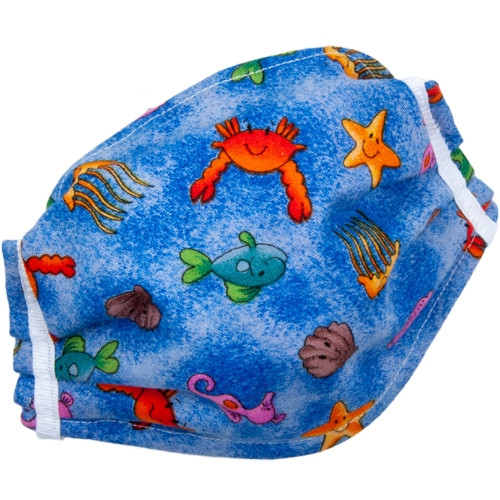 Child's Deluxe 3-Layer Cotton Pocket Mask- Many Designs