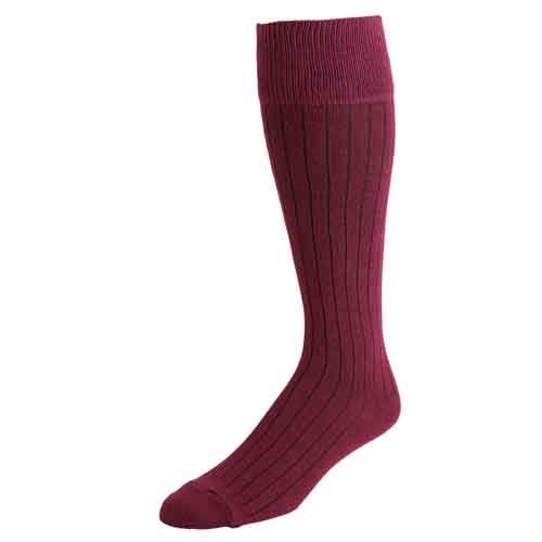 Men's Burgundy Dress Socks