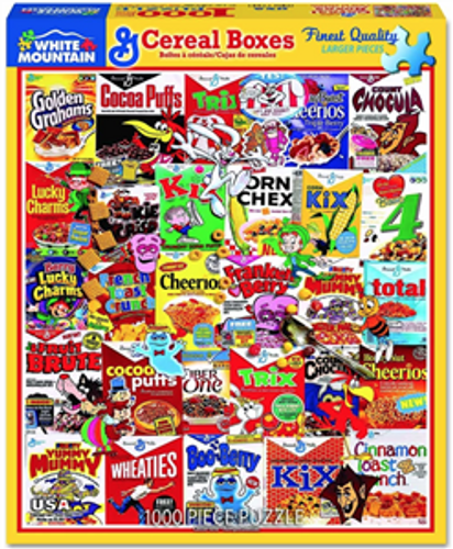 """Cereal Boxes """"Mystery"""" Jigsaw Puzzle - 1000 pieces"""