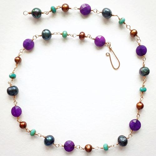 Purple Jade Boho Necklace