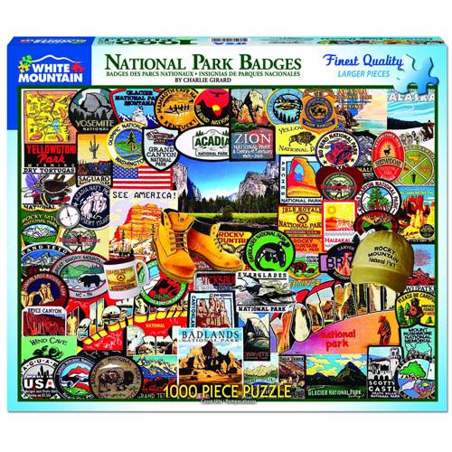 National Park Badges Jigsaw Puzzle - 1000 pieces