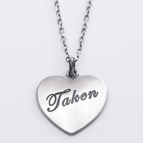"""""""Taken"""" Heart Necklace"""