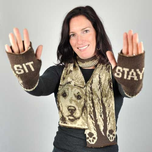 "Dog ""Sit Stay"" Handwarmers"