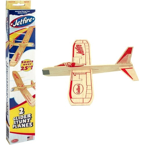 Guillow's JetFire Balsa Glider Twin Pack