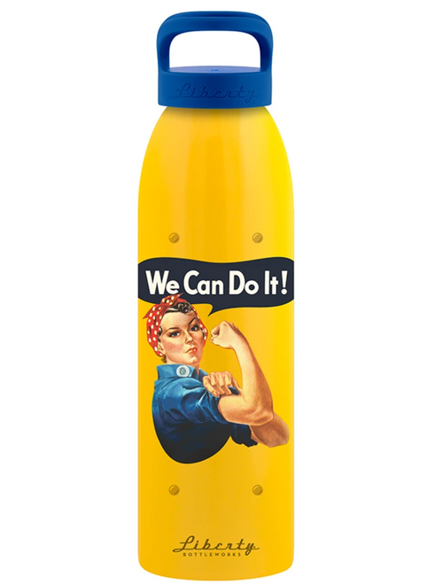 """We Can Do It"" Aluminum Water Bottle"