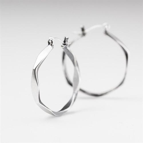 Silver Linnea Hoops
