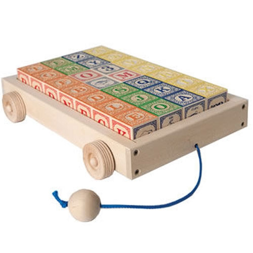 Classic ABC Blocks with Pull Wagon
