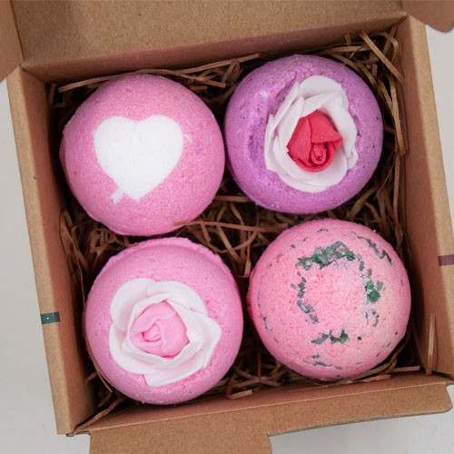 Bath Bomb Gift Set - 4 Pack