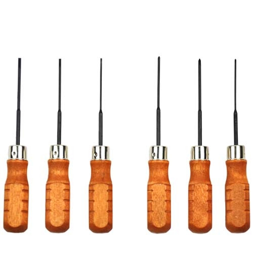 Wood Handled Mini Screwdriver Set of 6