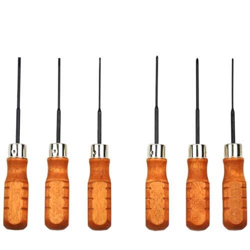 Wood Handled Mini Screwdriver Set of 6