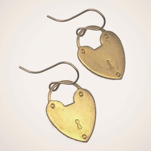 Padlock Heart Earrings