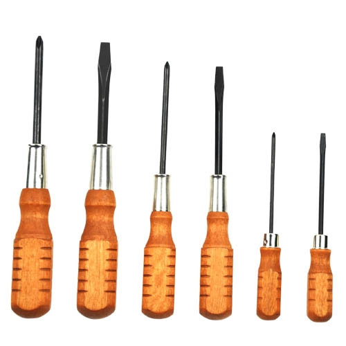 Wood Handled Screwdriver Set of 6