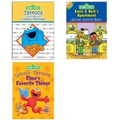 Sesame Street Tattoos & Stickers 3-Pack