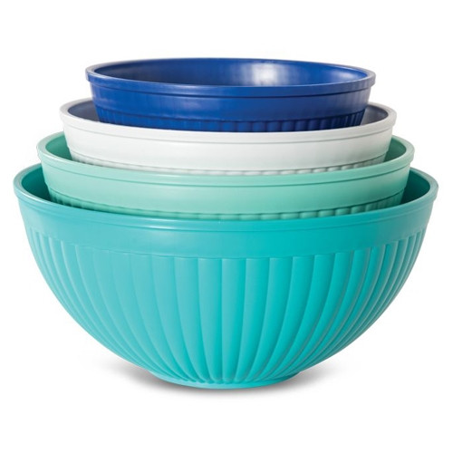 4 Piece Prep & Serve Mixing Bowl Set