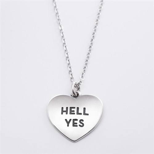 """Hell Yes"" Heart Necklace"