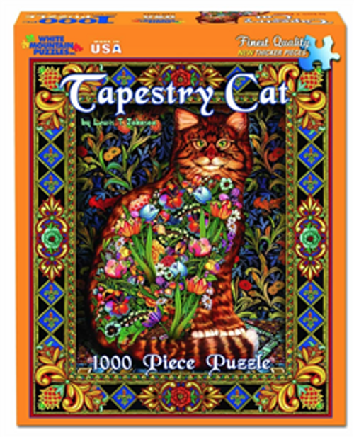 Tapestry Cat Jigsaw Puzzle - 1000 pieces