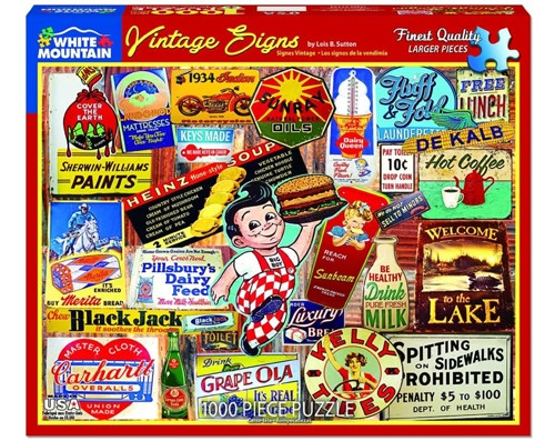 Vintage Signs - 1000 pieces