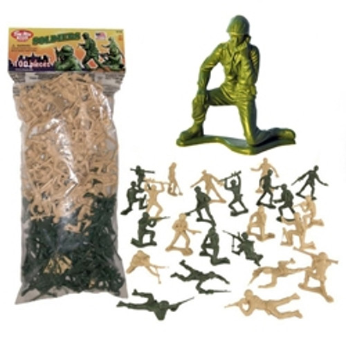 1970's Green vs Tan American Army Men