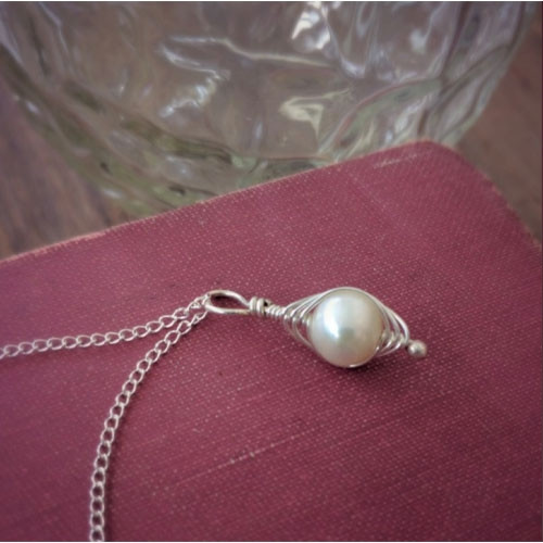 Silver Pea Pod Necklace
