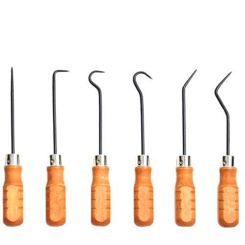 Wood Handled Hook & Pick Set of 6