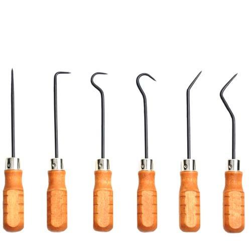 Wood Handled Hook & Pick Set of 6