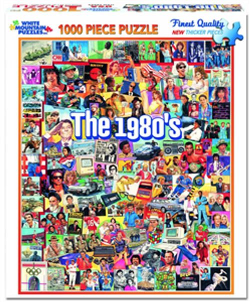 The 1980s Jigsaw Puzzle - 1000 pieces