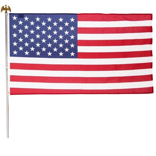 3'x5' US Flag Kit with Steel Pole
